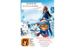 Jeudi 21 janvier : réunion d'information pour le séjour au ski de février