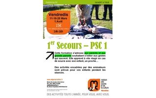 A partir du vendredi 11 mars : formation aux premiers secours