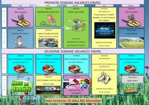 Programme ados : vacances d'avril