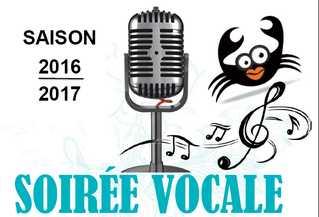 Samedi 1 octobre 2016 : soirée vocale