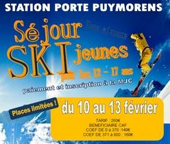 Vendredi 10 au lundi 13 février : séjour au ski