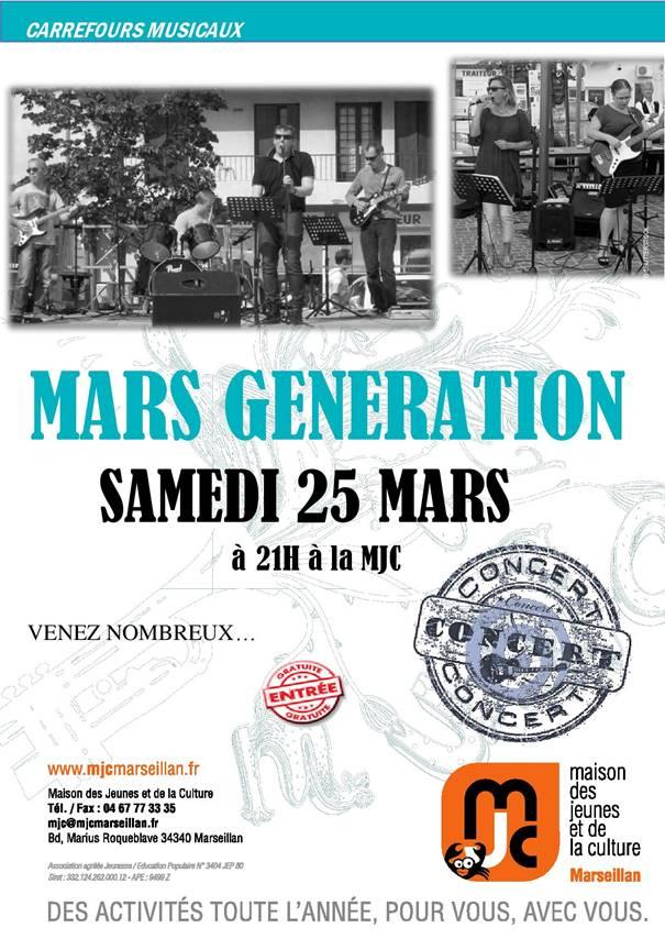 Samedi 25 mars 2017 : mars génération