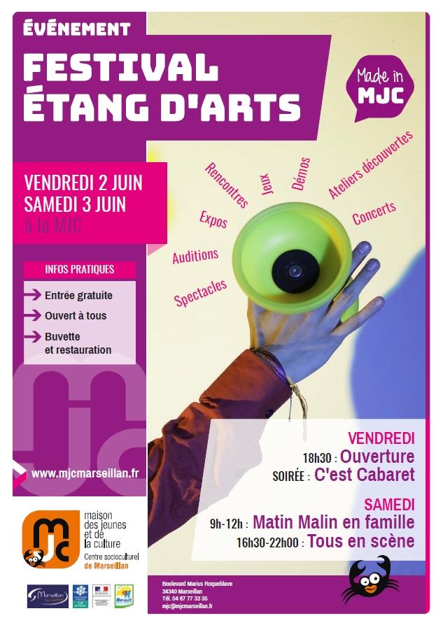 Vendredi 2 et samedi 3 juin 2017 : festival étang d'arts