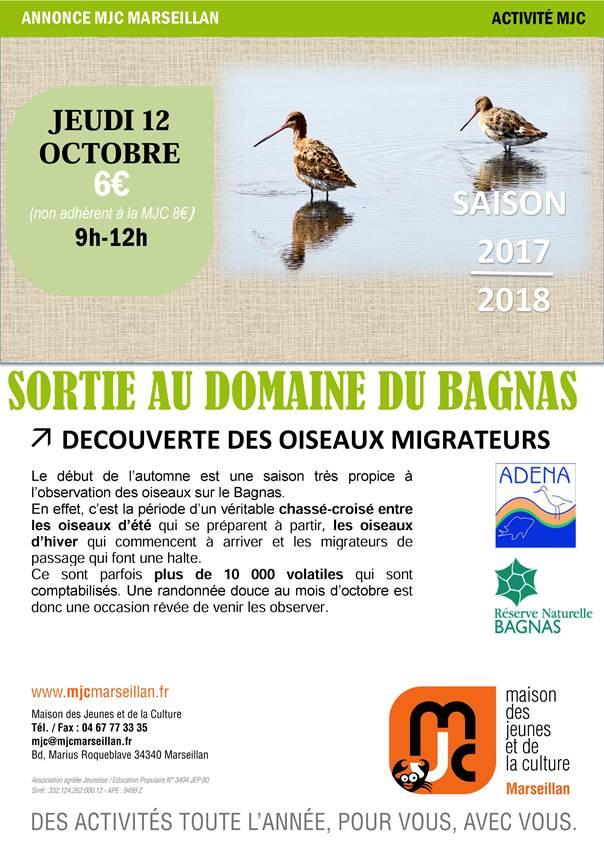 Jeudi 12 octobre 2017 : sortie au domaine du Bagnas