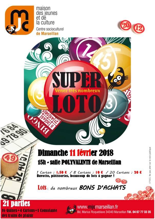 Dimanche 11 février 2018 : loto de la MJC