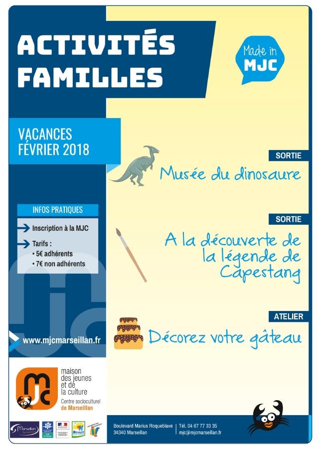 Vacances de février : Activités familles