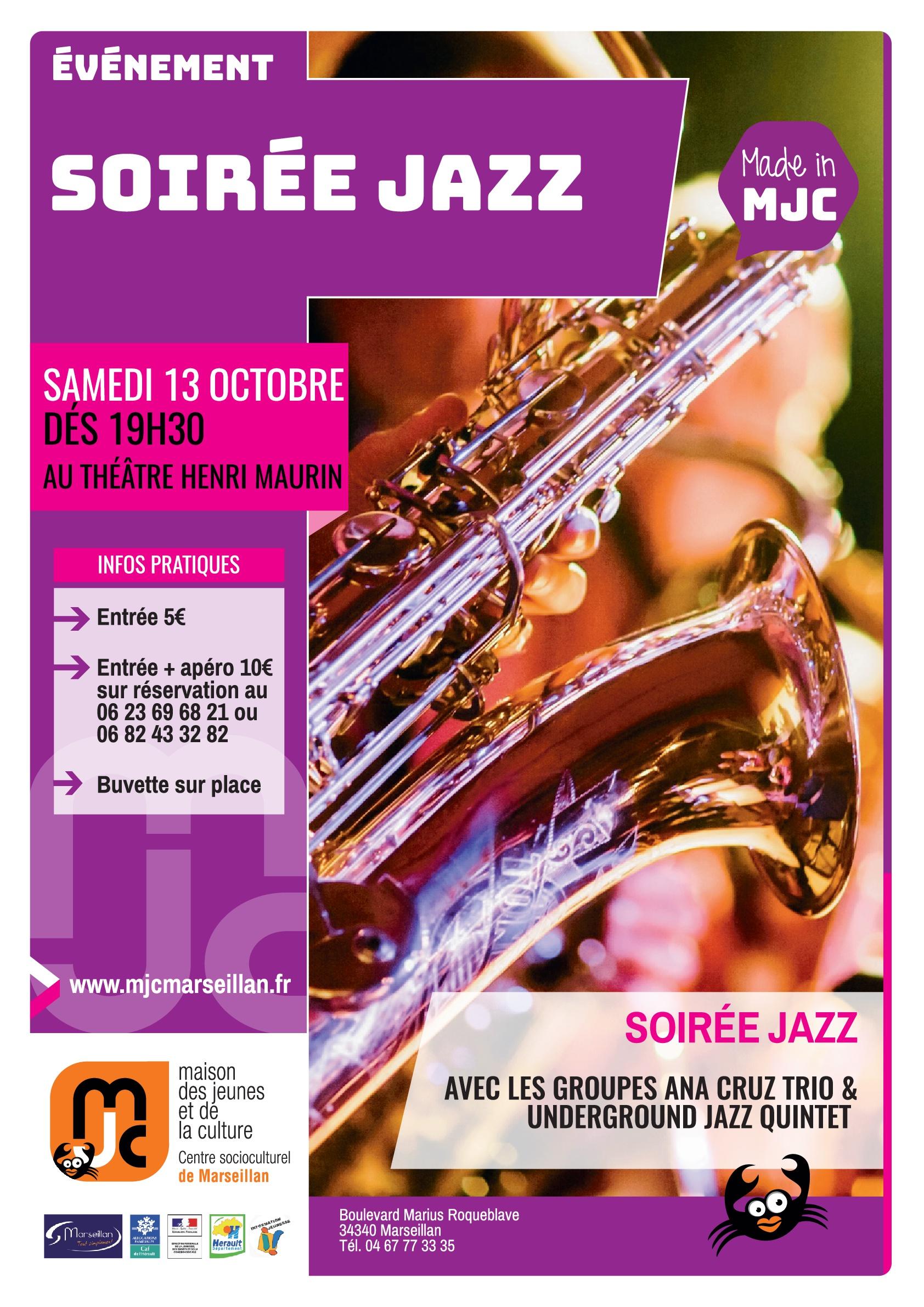 Samedi 13 octobre 2018 : soirée jazz