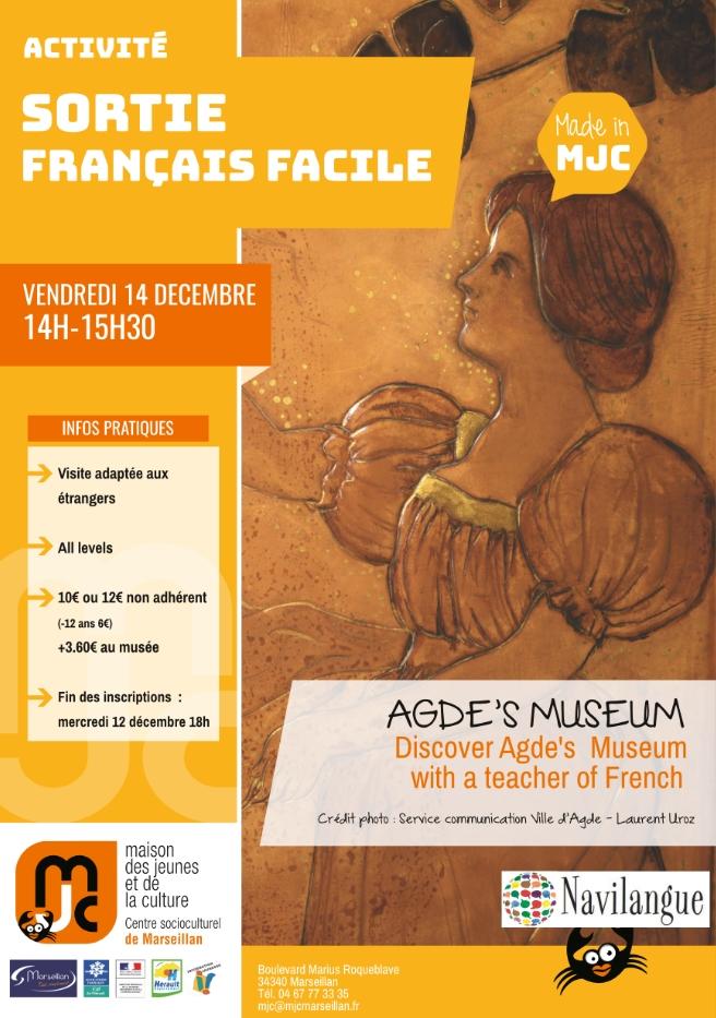 Vendredi 14 décembre 2018 : sortie français facile