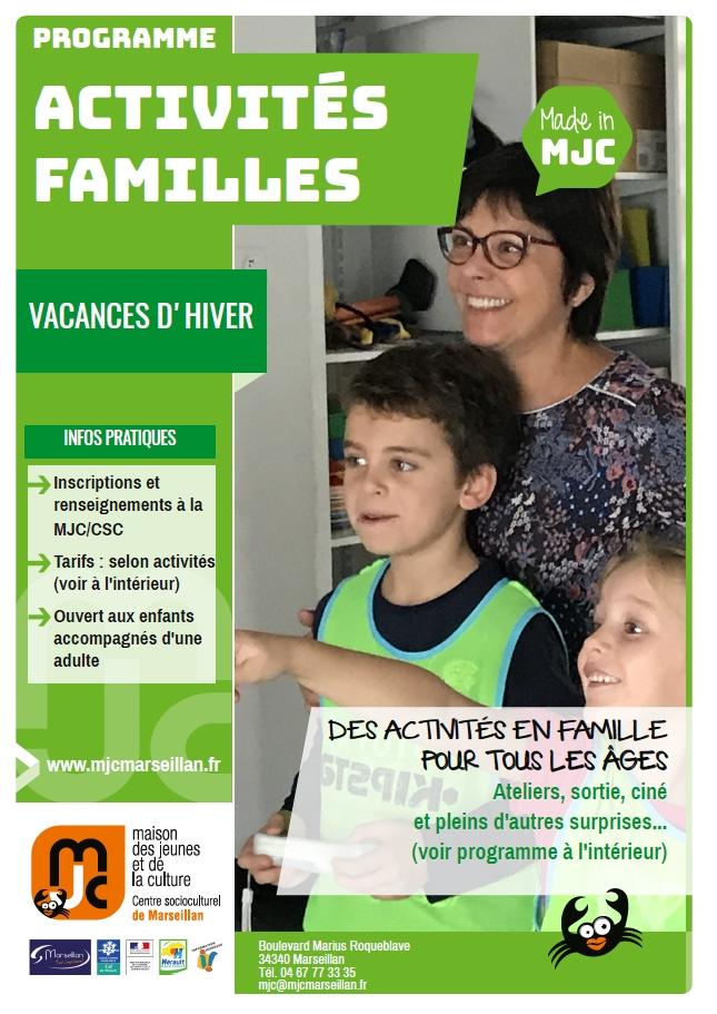 Mercredi 20 février au vendredi 8 mars : activités familles