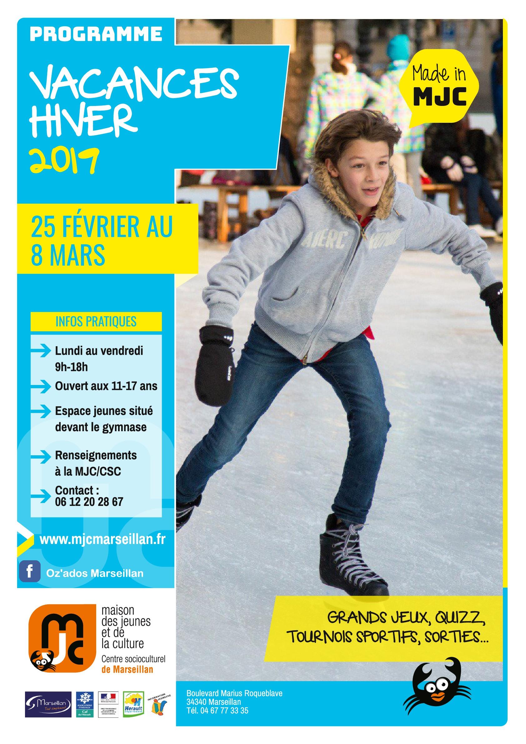 Programme vacances hiver 2019
