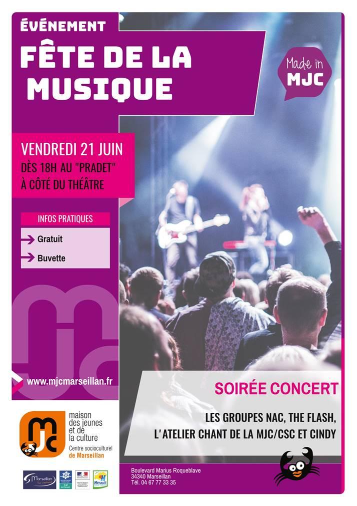 Vendredi 21 juin 2019 : fête de la musique
