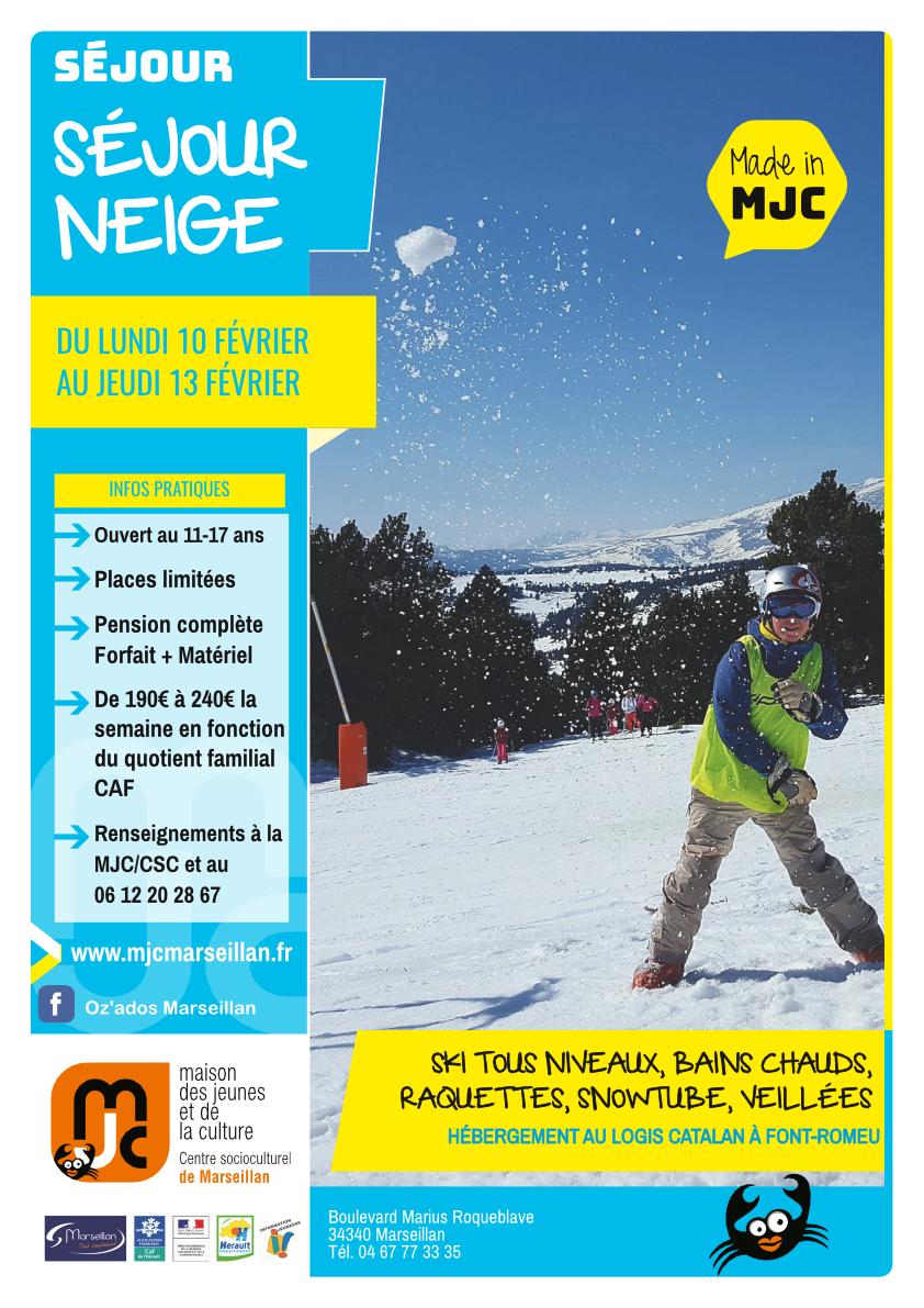 Lundi 10 au jeudi 13 février 2020 : séjour neige