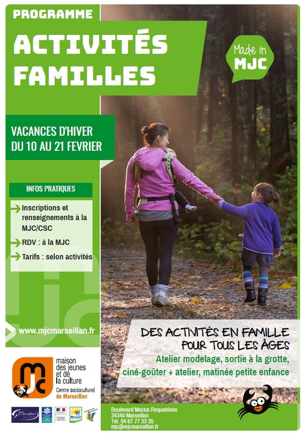 Lundi 10 au vendredi 21 février 2020 : activités familles