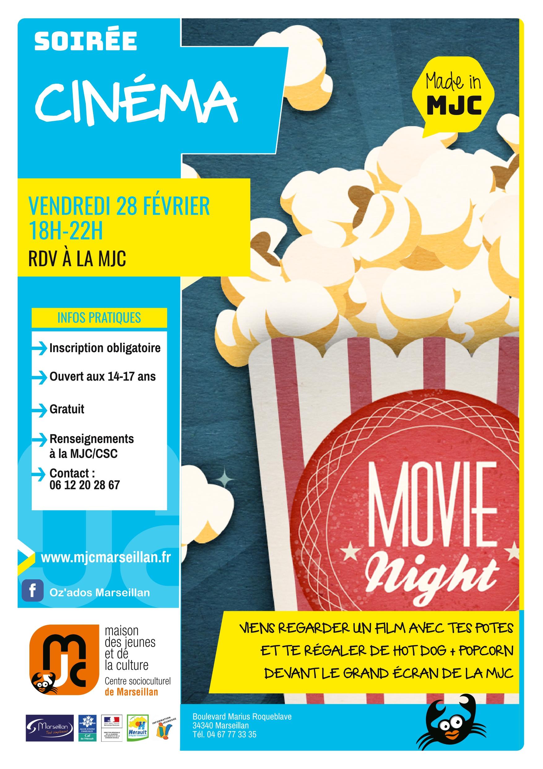Vendredi 28 février 2020 : soirée cinéma