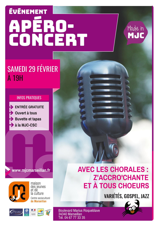 Samedi 29 février 2020 : apéro-concert