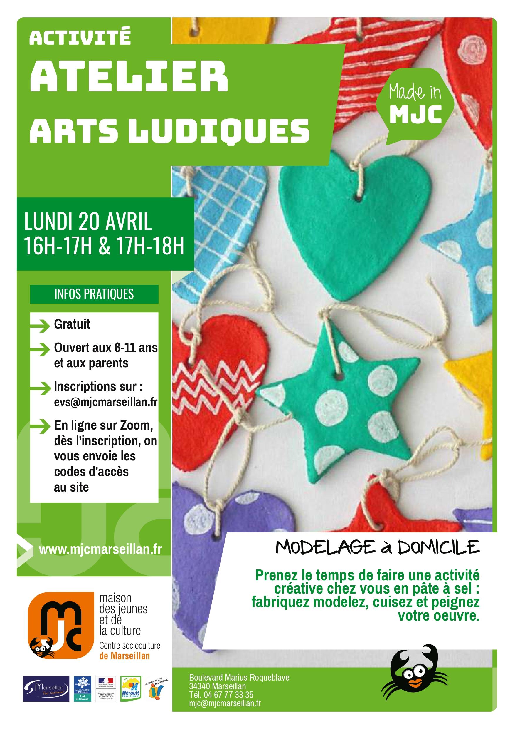 Lundi 20 avril 2020 : atelier arts ludiques à domicile