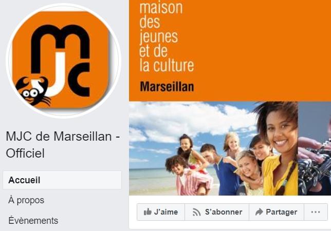 Page facebook de la MJC