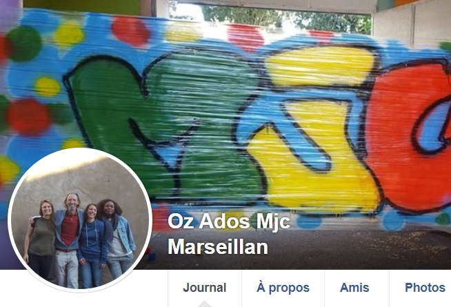 Page facebook Oz Ados de la MJC