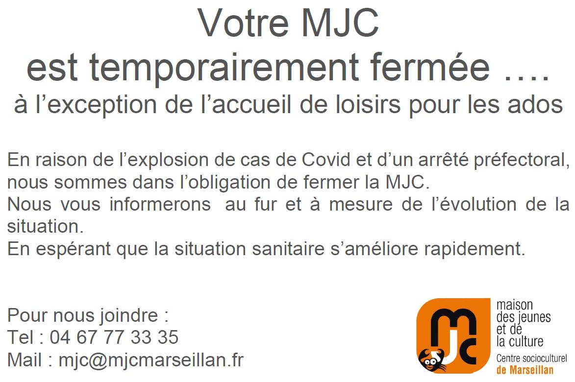 Fermeture temporaire de la MJC