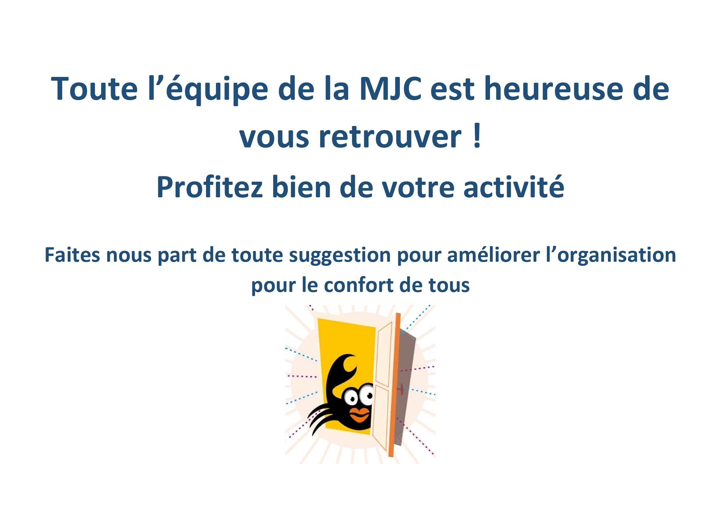 Reprise des activités de la MJC
