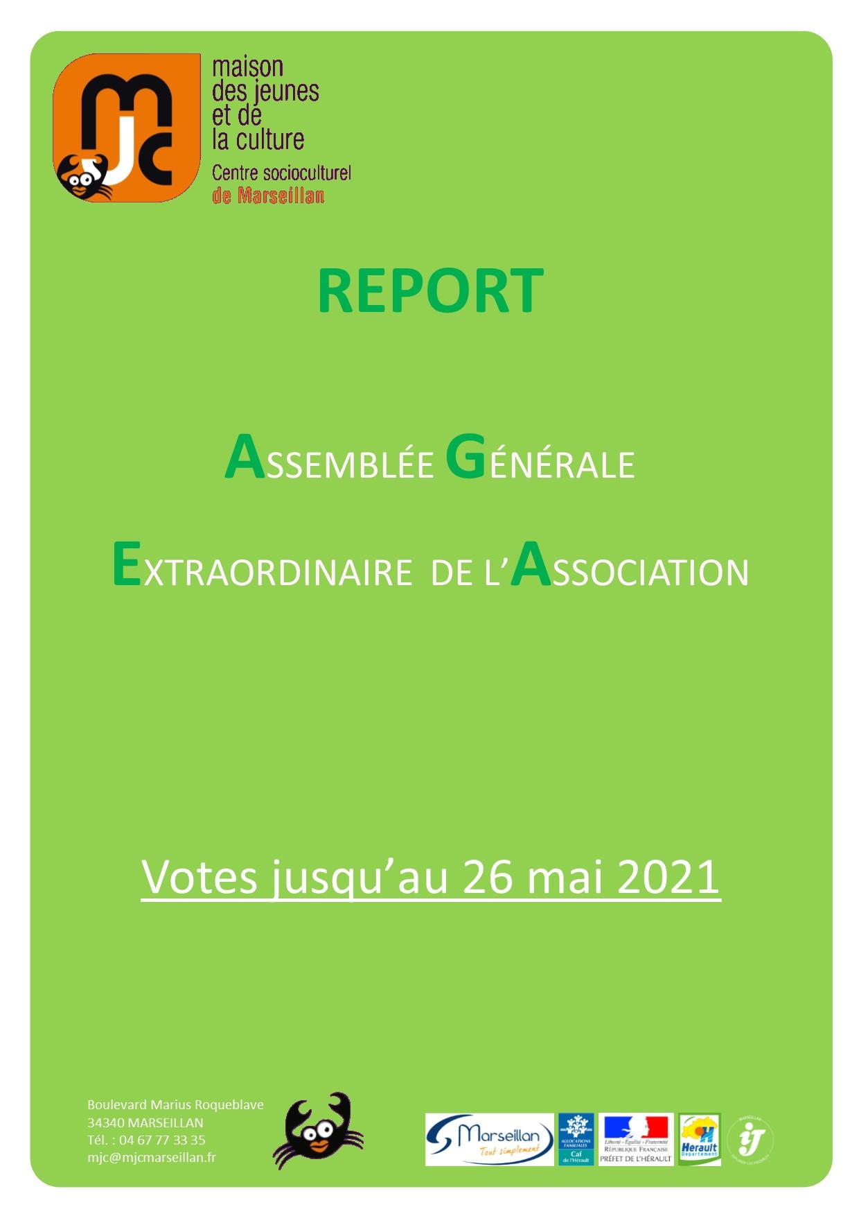 Vote pour les nouveaux statuts et le nouveau règlement intérieur