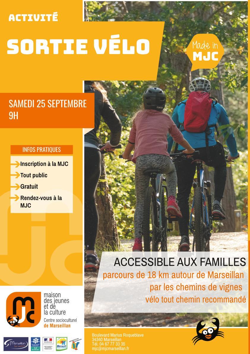 Samedi 25 septembre 2021 : sortie vélo