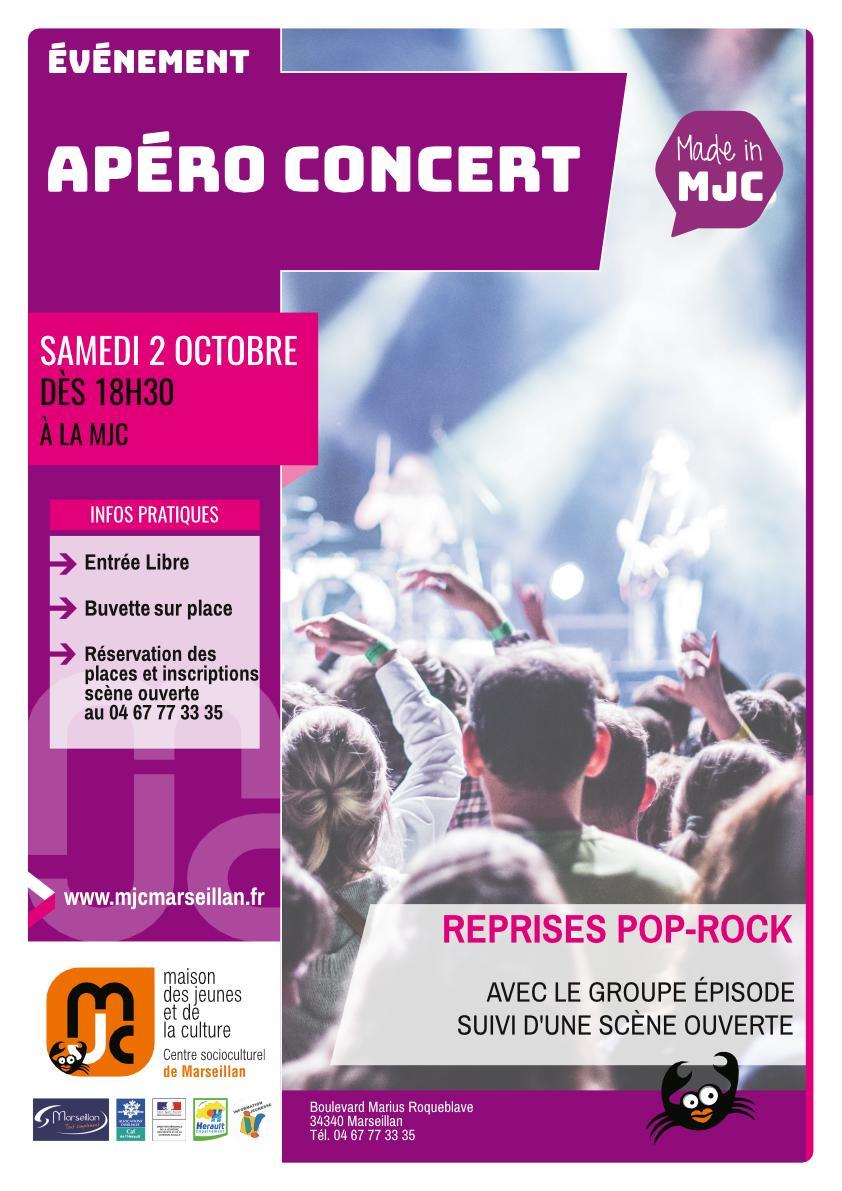 Samedi 2 octobre 2021 : apéro concert